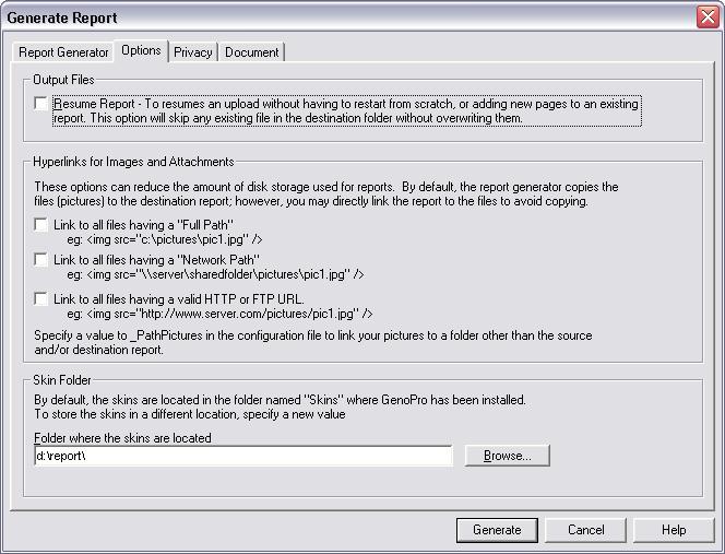 HTML Report Generator - GenoPro Help
